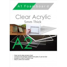 A2 5mm Clear Acrylic
