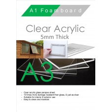 A3 5mm Clear Acrylic
