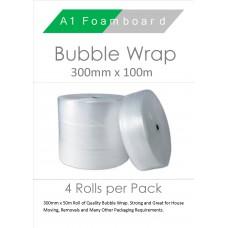 Bubble wrap 300mm x 100m (4 per Pack)