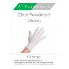 Clear X-Large Powdered Gloves