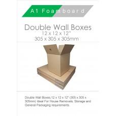 "Double Wall 125 Kraft Test 12"" x 12"" x 12"" 0201 Carton"