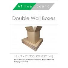 "Double Wall 125 Kraft Test 12"" x 9"" x 9"" 0201 Carton"