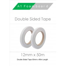 Double Sided Tape 12mm x 50m (6 Rolls)