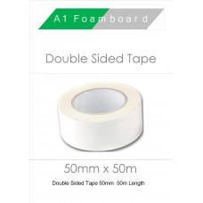 Double Sided Tape 50mm x 50m (2 Rolls)