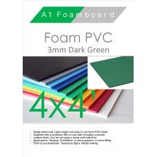 4' x 4' (1220 x 1220mm) 3mm Foam PVC Dark Green