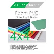 4' x 4' (1220 x 1220mm) 3mm Foam PVC Light Green