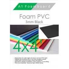 4' x 4' (1220 x 1220mm) 3mm Foam PVC Black