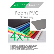 4' x 4' (1220 x 1220mm) 3mm Foam PVC Grey