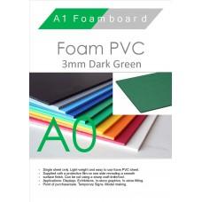 A0 3mm Foam PVC Dark Green