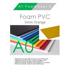 A0 5mm Foam PVC Orange