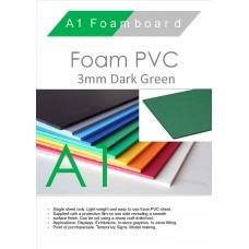 A1 3mm Foam PVC Dark Green