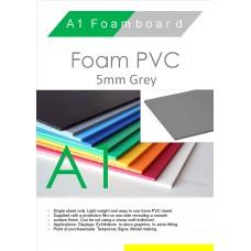 A1 5mm Foam PVC Grey