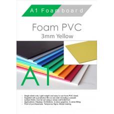 A1 3mm Foam PVC Yellow