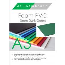 A3 3mm Foam PVC Dark Green