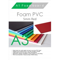 A3 5mm Foam PVC Red
