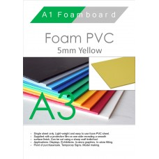 A3 5mm Foam PVC Yellow