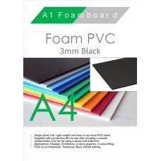 A4 3mm Foam PVC Black