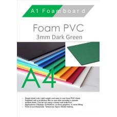 A4 3mm Foam PVC Dark Green