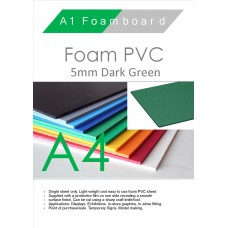 A4 5mm Foam PVC Dark Green