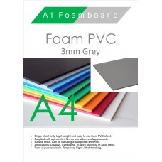 A4 3mm Foam PVC Grey
