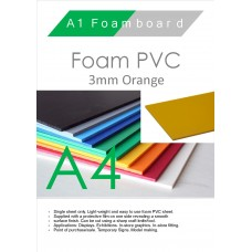 A4 3mm Foam PVC Orange