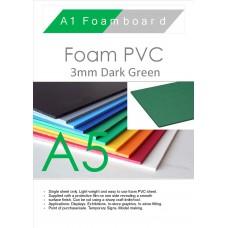 A5 3mm Foam PVC Dark Green