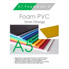 A5 3mm Foam PVC Orange
