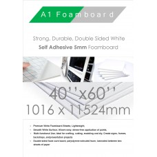 40 x 60 inches 1016mm x 1524mm 5mm White Self Adhesive Packed 25s