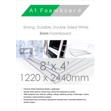 Packed 15. 3mm A0 A Box of White Foam Board