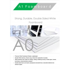A0 5mm White Foamboard Packed 10s 1188x841mm Packed 10s Small Box