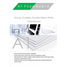 A1 840mm x 594mm 5mm White Foamboard Self Adhesive Packed 10s