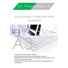 A3 420mm x 297mm 3mm White Foamboard Packed 15s