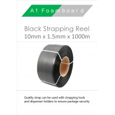 10MM x 1.5MM x 10000MM Black Strapping Reel
