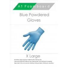 Blue X-Large Powdered Gloves