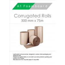 Corrugated rolls 300mm x 75m