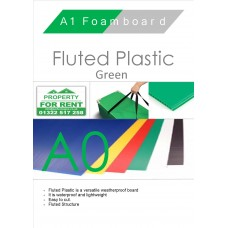 A0 Green Fluted Plastic Sheet