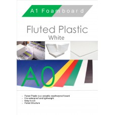 A0 White Fluted Plastic Sheet
