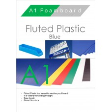 A1 Blue Fluted Plastic Sheet