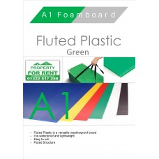 A1 Green Fluted Plastic Sheet