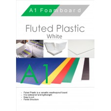 A1 White Fluted Plastic Sheet