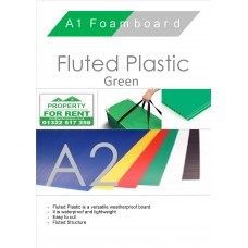 A2 Green Fluted Plastic Sheet