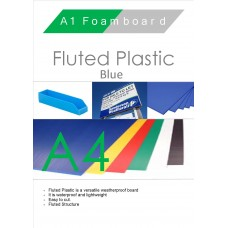 A4 Blue Fluted Plastic Sheet