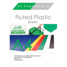 A4 Green Fluted Plastic Sheet