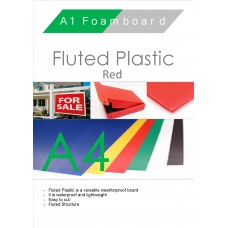 A4 Red Fluted Plastic Sheet