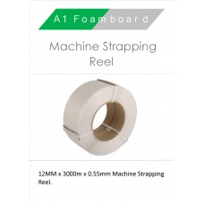 12MM x 3000m x 0.55mm Machine Strapping 145kg Reel
