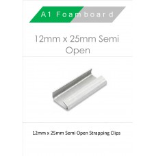 12MM X 25MM Semi Open/Standard Strapping Boxed 1000